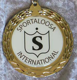 Sportaloosa members get real rewards, like this silver medallion